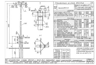 ПП20-4ДД - одноцепная деревянная опора ВЛ-20кВ