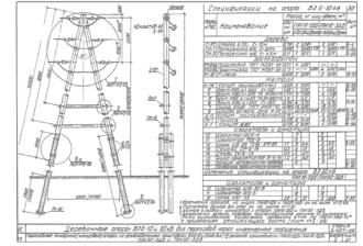 ПАК10-3ДБ - одноцепная деревянная опора ВЛ-10кВ