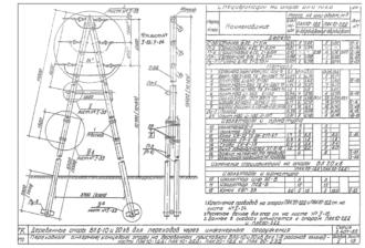 ПАК10-2ДД - одноцепная деревянная опора ВЛ-10кВ
