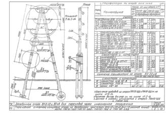 ПАК10-1ДД - одноцепная деревянная опора ВЛ-10кВ