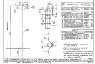 ПП10-1Д - одноцепная деревянная опора ВЛ-10кВ