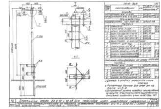 ПП10-5ДБ - одноцепная деревянная опора ВЛ-10кВ