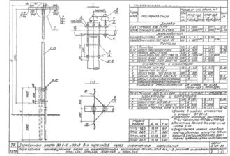 ПП10-4ДБ - одноцепная деревянная опора ВЛ-10кВ