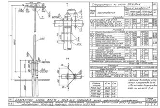 ПП10-4ДД - одноцепная деревянная опора ВЛ-10кВ