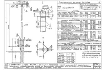 ПП10-2ДД - одноцепная деревянная опора ВЛ-10кВ