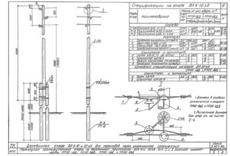 ПП10-3ДД - одноцепная деревянная опора ВЛ-10кВ