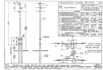 ПП10-1ДД - одноцепная деревянная опора ВЛ-10кВ