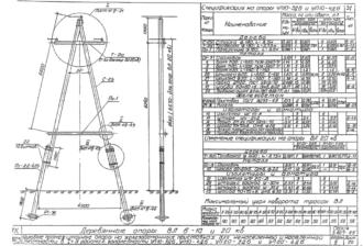УП20-4ДБ - одноцепная деревянная опора ВЛ-20кВ