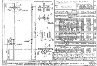 П20-9ДБ - одноцепная деревянная опора ВЛ-20кВ