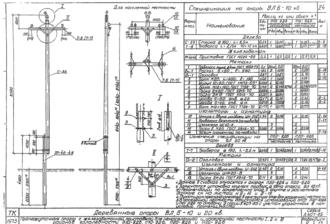 П20-8ДБ - одноцепная деревянная опора ВЛ-20кВ