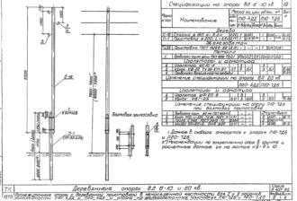 П20-4ДД - одноцепная деревянная опора ВЛ-20кВ