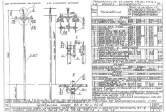 П20-3Д - одноцепная деревянная опора ВЛ-20кВ