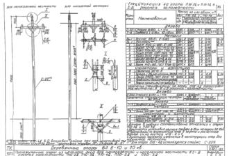 П20-2Д - одноцепная деревянная опора ВЛ-20кВ