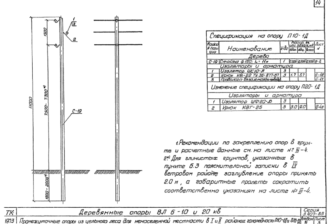 П20-1Д - одноцепная деревянная опора ВЛ-20кВ