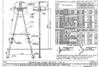 ОА10-4ДБ - одноцепная деревянная опора ВЛ-10кВ