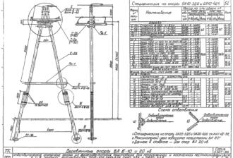 ОА10-3ДБ - одноцепная деревянная опора ВЛ-10кВ