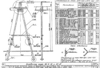 ОА10-3ДД - одноцепная деревянная опора ВЛ-10кВ