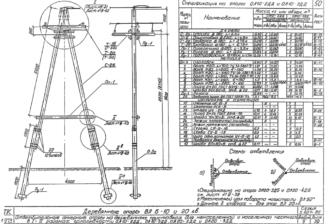 ОА10-2ДД - одноцепная деревянная опора ВЛ-10кВ