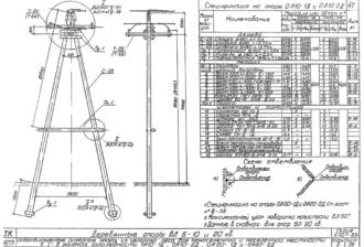 ОА10-2Д - одноцепная деревянная опора ВЛ-10кВ