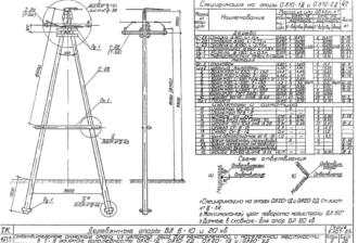ОА10-1Д - одноцепная деревянная опора ВЛ-10кВ