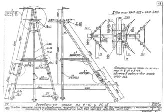 УА10-3ДД - одноцепная деревянная опора ВЛ-10кВ