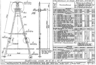 АК10-4ДБ - одноцепная деревянная опора ВЛ-10кВ