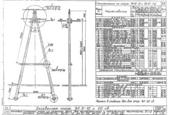 АК10-2Д - одноцепная деревянная опора ВЛ-10кВ