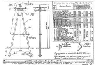 ОА20-2Д - одноцепная деревянная опора ВЛ-20кВ