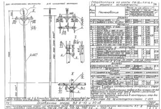 П10-4Д - одноцепная деревянная опора ВЛ-10кВ