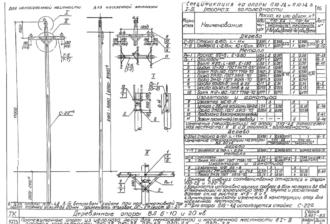 П10-3Д - одноцепная деревянная опора ВЛ-10кВ
