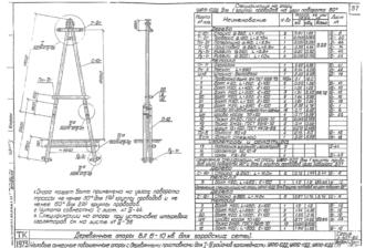 УАП10-11ДД - одноцепная деревянная опора ВЛ-10кВ
