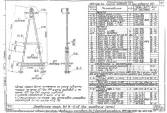 УАП10-10ДД - одноцепная деревянная опора ВЛ-10кВ