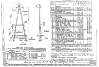 УАП10-11ДБ - одноцепная деревянная опора ВЛ-10кВ