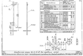 ПП10-10ДБ - одноцепная деревянная опора ВЛ-10кВ