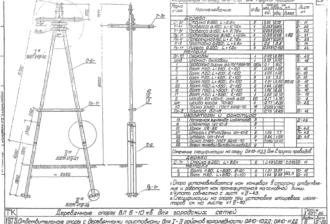ОА10-10ДД - одноцепная деревянная опора ВЛ-10кВ