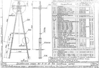 ОА10-10ДБ - одноцепная деревянная опора ВЛ-10кВ