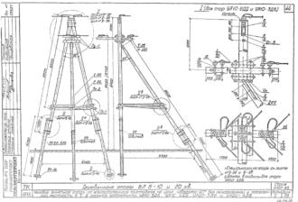 УА20-3ДБ - одноцепная деревянная опора ВЛ-20кВ