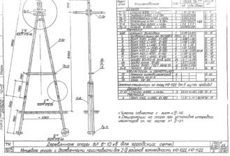К10-11ДД - одноцепная деревянная опора ВЛ-10кВ
