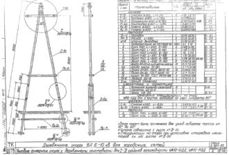 УА10-11ДД - одноцепная деревянная опора ВЛ-10кВ