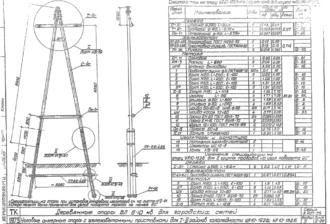 УА10-12ДБ - одноцепная деревянная опора ВЛ-10кВ