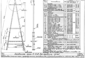 УА10-10ДБ - одноцепная деревянная опора ВЛ-10кВ