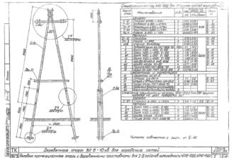 УП10-13ДД - одноцепная деревянная опора ВЛ-10кВ